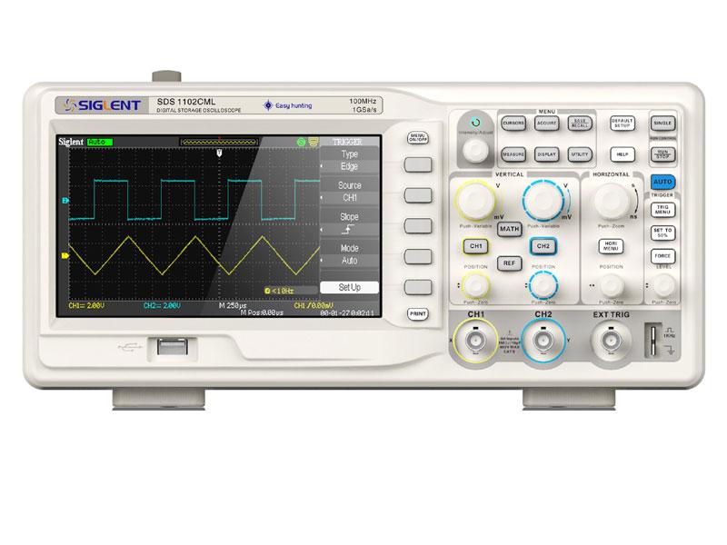 Siglent SDS1102CML 100MHz 7 TFT-LCD Display by Siglent Digital Storage Oscilloscope
